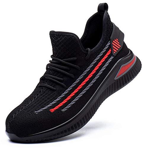 zapatos de seguridad hombre trabajo comodos,Tenis de seguridad con suela antideslizante, dieléctrico, ligero, flexible, aunque coloque una talonera para cityor comodidad!