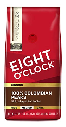 Eight O'Clock Ground Coffee, 100% Colombian Peaks, 33 Ounce (Pack of...