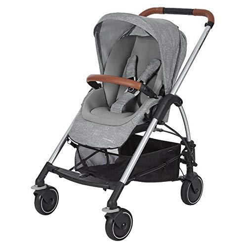 Bébé Confort Mya Passeggino Fronte/Retro Reversibile, Richiudibile Compatto, 4 Ruote, per Bambini dalla Nascita ai 3,5 Anni, Colore Nomad Grey