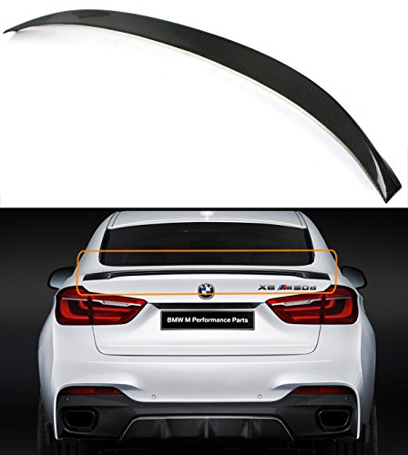 Cuztom Tuning Carbon Fiber M50D Style Lift Gate Trunk Spoiler Wing Fits for 2015-2019 BMW F16 X6 F86 X6M