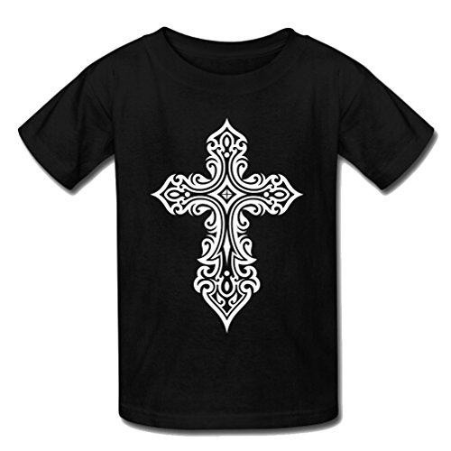 JIUDUIDODO Kids FE Cruz Unisex Classic Fashion corto camisetas