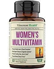 Women's Daily Multivitamin Supplement. Vitamins and Minerals. Chromium, Magnesium, Biotin, Zinc, Calcium, Green Tea. Antioxidant Properties for Women. Heart, Breast Health. 60 Capsules