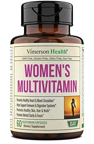 Women's Daily Multivitamin Supplement. Vitamins and Minerals. Chromium, Magnesium, Biotin, Zinc, Calcium, Green Tea. Antioxidant Properties and Immune Support for Women. 60 Capsules