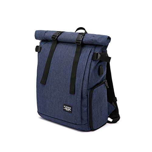 Camera Backpack Camera DSLR tas met USB-poort opladen, Fotografie Rugzak for Vrouwen Mannen Waterdicht, Camera Case Geschikt for Sony Canon Nikon Lens Trip (Color : Blue, Size : L)