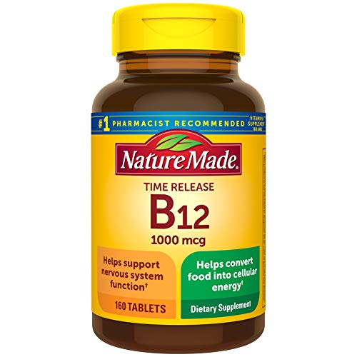 Nature Made Vitamin B12 1000 mcg Time Release Tablets, 160 Count Value...