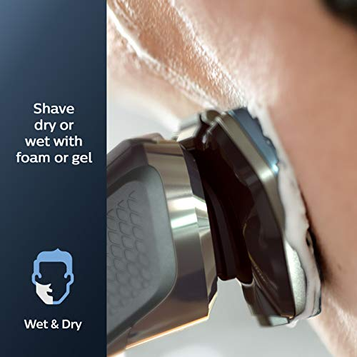 Philips Norelco Shaver 7100, Rechargeable Wet & Dry Electric Shaver with SenseIQ Technology and Pop-up Trimmer S7788/82