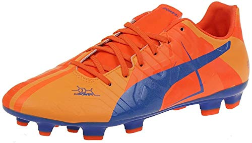 Puma Evopower 3 H2H FG 'Head To Head' Fussballschuhe Tricks Graphic Kollektion blau/orange, Schuhgröße:EUR 42.5