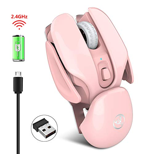 SAMTITY Ergonomic Wireless Mouse, Rechargeable Mouse, Silent Button, for Laptop PC Computer 1600 DPI Mute Mouse