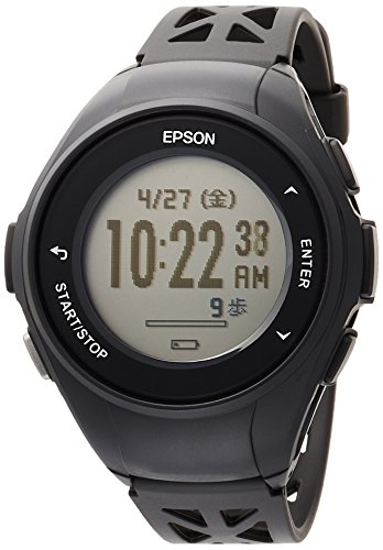 [エプソン] 腕時計 リスタブルジーピーエス GPSランニングウォッチ Q-10B ブラック