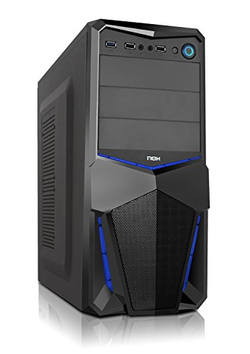 Nox PAX - NXPAX - Caja PC, ATX, USB 3.0, Color Negro Azul