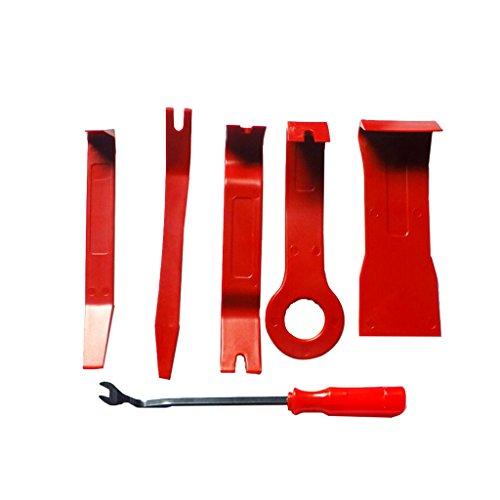 MagiDeal 6 Pcs De Voiture en Plastique Garniture Panneau Dash Installation Enlèvement Pry Outils Kit