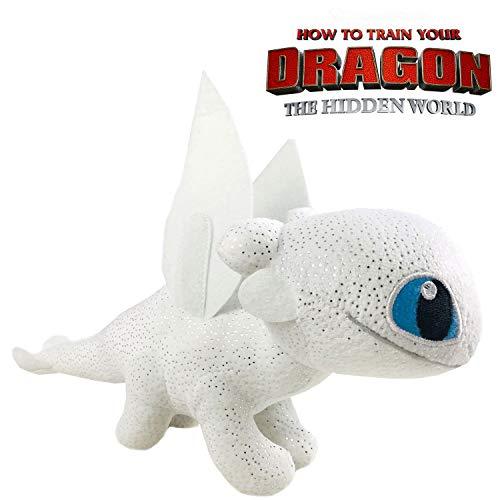 Play by Play HTTYD-Drachen, Drachenzähmen leicht gemacht - Light Fury Fury mit Weiß Super Bright Qualität 20 cm (30 cm Schwanz enthalten) - 760017911