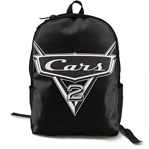 Cars Ligh-tning Mc-queen - Mochilas ligeras resistentes al agua para adolescentes y niñas, mochila escolar con bolsa de almuerzo, 12,5 x 5,5 x 16,5 h