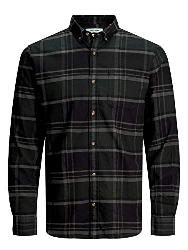 JACK & JONES Male Hemd Button-down Twillweb LOlive Night