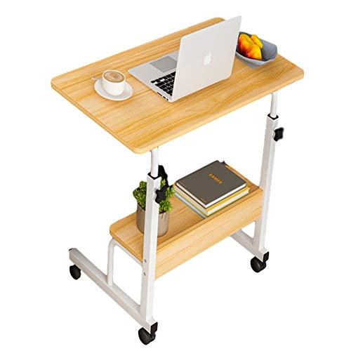 Laptoptisch Höhenverstellbar Bett, Mobiler Betttisch Auf Rollen, Computertisch Sofa Bett Ständer Schreibtisch Pflegetisch Einstellbar (Size : 60x40cm)