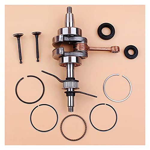 Cigüeñal, 39 mm, anillos de pistón, sello de aceite, válvula de admisión, compatible con H-onda GX35 GX 35, motor de 4 tiempos, accesorios para recortadora, desbrozadora, cortacésped