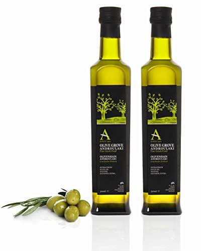 Olivenöl Androulakis Extra Natives Olivenöl 1L ( 2x500ml ) Olivenöl kaltgepresst aus Kreta, Griechenland
