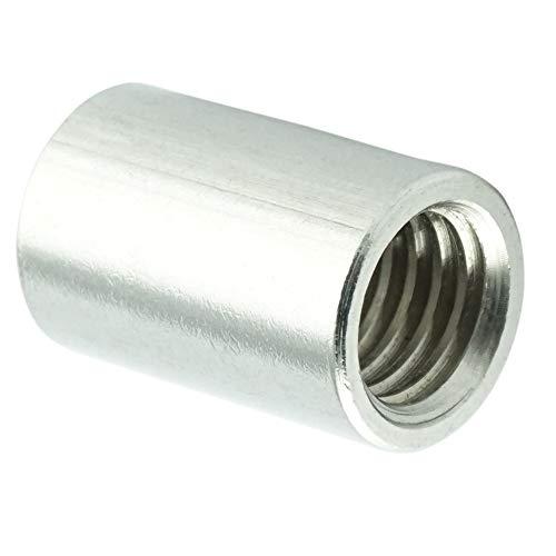 Eisenwaren2000 | M10 x 40 mm Rundmuffe (10 Stück) - Gewindemuffen rund - Edelstahl A2 V2A - rostfrei