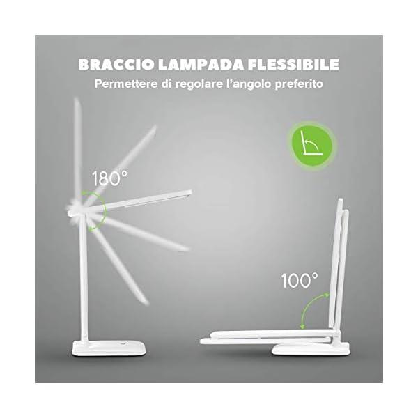 Lampada Scrivania 42 Led Lampada Da Tavolo Con Efficienza Energetica Occhi Cura Regolabile 3 Luminosita 3 Modalita