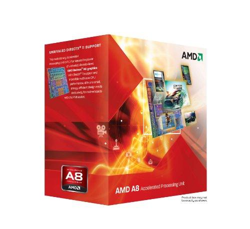 AMD A8-3850 APU mit AMD Radeon HD 6550D Grafikeinheit Quad-Core Prozessor (2,9GHz, L2-Cache, 100 Watt)