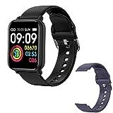 2021 R7 Ladies Smart Watch for Men, Bluetooth 1.3 Pulgadas Fitness Tracker Pantalla Táctil Completa IP68 Sports Watch Monitor De Frecuencia Cardíaca para iOS Android,F