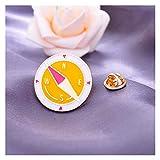 Jfsmgs Brosche Cartoon Flugzeug Erde Koffer Kompass Auto Kamera Brosche Jacke Pin Cardigan Zubehör Koreanisch Einfache Mode Wild Mantel (Metal Color : Style 4)