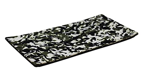 """Aqua Lily Marine Foam Boat Decking (96"""" x 48"""" Self-Adhesive EVA Flooring Sheet) Non-Slip in All Weather Conditions, Unfabricated Full Sheet Material, Brushed Green Camo/Black"""