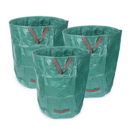 Check Out This YICOL Collapsible Container Gardening Bag, 270L Yard Waste Bag Reusable Heavy Duty Ga...