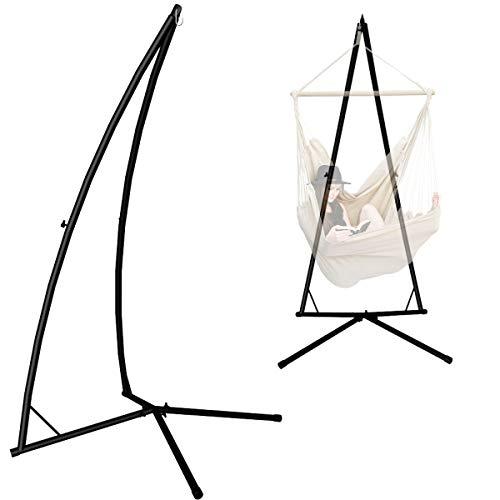 AMANKA Hängestuhlgestell 215cm Hängesessel-Ständer - Hängesitz Metall-Gestell Schwarz