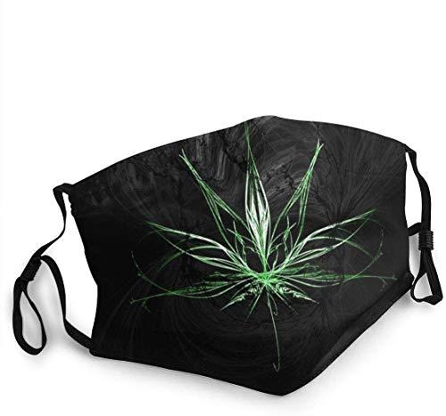 Marihuana Art - Gorra de protección facial transpirable, lavable, reutilizable, antipolvo, bandana, color negro One_color. Talla única