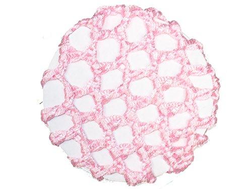 Mädchen-Haarnetz, für Ballett-Dutt, rosa glänzendes Band