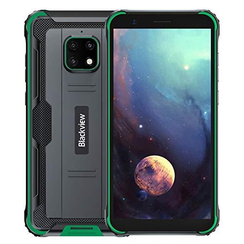 "IP68 Móvil Resistente Blackview BV4900, Android 10 4G Telefono Antigolpes, 3GB RAM 32GB ROM Extensión de 256GB, Pantalla 5.7"", Cámara Impermeable 5MP+8MP, NFC GPS Dual SIM, Batería 5580mAh Verde"