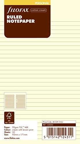 Filofax 133053 Personal Notizpapier, blanko, cotton cream