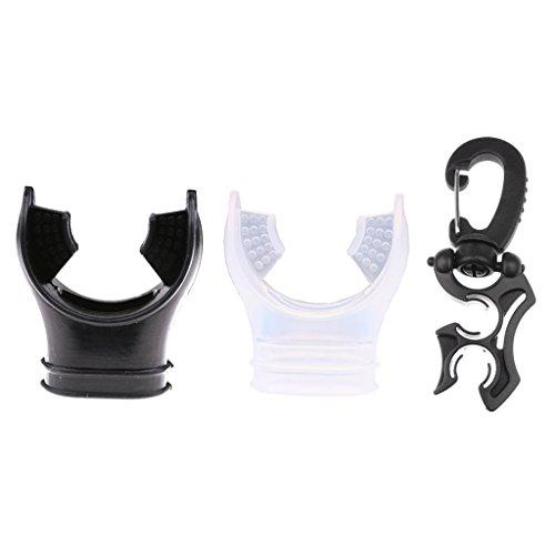 yotijar 2 boquillas reguladoras de buceo con cubierta de clip