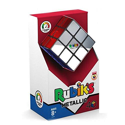 Rubik's Zauberwürfel Cube 3x3 Metallic Premium Version Original Rätsel-Puzzle für Kinder & Erwachsene