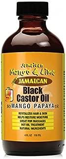 [JAMAICAN MANGO&LIME] PURE ORGANIC BLACK CASTOR OIL TREATMENT MANGO PAPAYA 4OZ