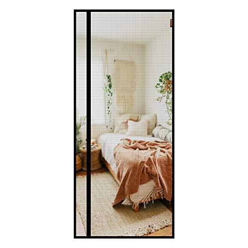 MAGZO Reversible Left Right Side Opening Magnetic Screen Door 36'' x 82'' Grey, Durable Fiberglass Screen Doors with Magnets Heavy Duty Fits Door Size 36'' x 82'' Screen for Sliding Patio Door