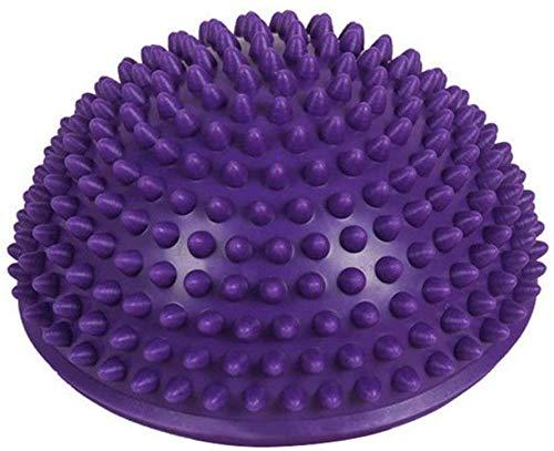 Fitnessapparaten afslanken massage dynamovolition opblaasbare halve yoga-bal oefening balans training board puntenbal plank lila