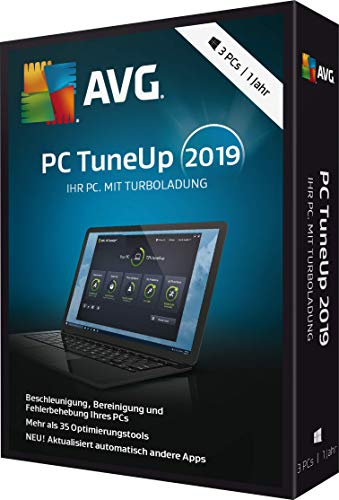 AVG PC TuneUp 2019 - 3 PCs / 1 Jahr|2019|3 PCs / 1 Jahr|12 Monate|PC, Laptop|Download|Download