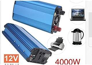 CloverLucky 3000W de Alta Potencia de 12V a 220V Inversor de Potencia con un Puerto USB Alta conversi/ón Aleaci/ón de Aluminio Transformador de Vivienda