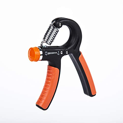 N / D Hand Grip Strength Trainer Adjustable Forearm Strengthener Exerciser Finger Resistance Gripper for Workout Exercise Fitness Recovery11132lbsComes with an Extra Grip Ring BlackRed