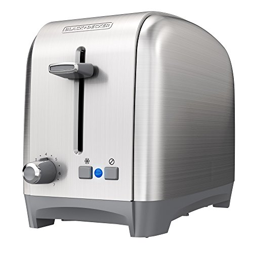 BLACK+DECKER 2-Slice Extra Wide Slot Toaster, Classic, Stainless Steel, TR2400SD