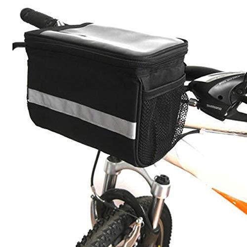Lixada Réfléchissant Vélo Guidon Panier Isolé Refroidisseur Sac en Plein Air Vélo VTT Vélo Avant Tube Sac Sac Pack Imperméable et Résistant À la Friction