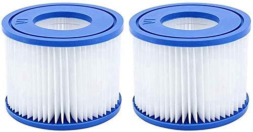 Filterkartuschen für Pool, für Bestway Pool VI Filter, blauer Swimmingpool-Filter für Garten im Freien, einfache Installation antimikrobielle Filterkartusche (Größe: VI) (2 Stück)