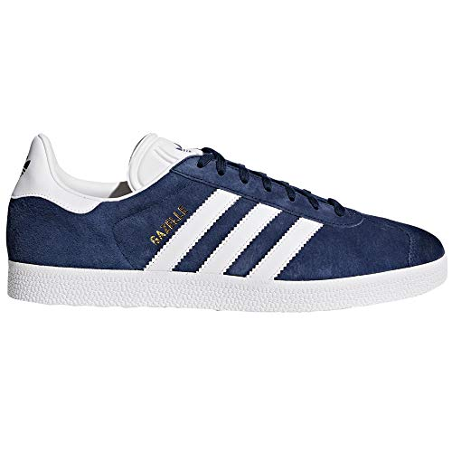 adidas Gazelle Zapatillas Deportiva para Hombre. Sneaker, Trainer, Tenis. (43 1/3 EU, Collegiate Navy White Gold)