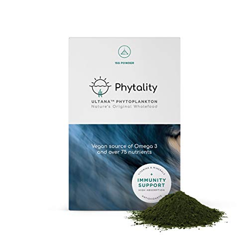 Phytality Ultana Phytoplankton 15 Grams | Vegan Omega 3 EPA | Sustainable & Plant-Based | 100% Vegan