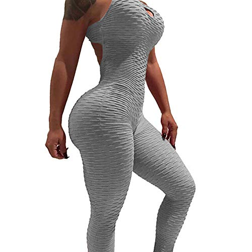 Workout-jumpsuits voor dames, spandex yoga fitness workout-legging met hoge taille, panty-jumpsuits, mouwloze sportkleding