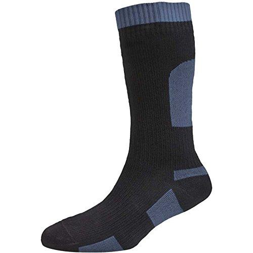 SealSkinz Herren Socken Weight Mid Length, Black, S