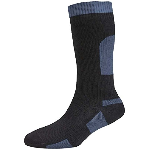 SealSkinz Herren Socken Weight Mid Length, Black, S