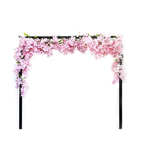 Li Hua - Guirnalda de flores de cerezo para gatos, plantas artificiales colgantes, guirnalda de seda para boda, fiesta, decoración 1 pieza, plástico, Rosa, 200 cm
